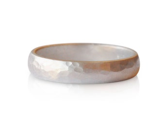 Men's Hammered Band| Men's wedding ring