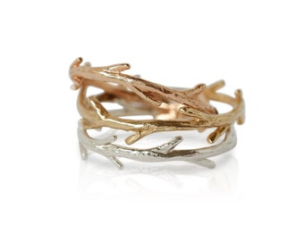 Gold Twig Ring | Stacking Ring | Nature Inspired Ring| Colby June