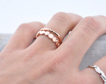 Rose Gold Vermeil Raw Ring | Stacking Ring | Vermeil Ring