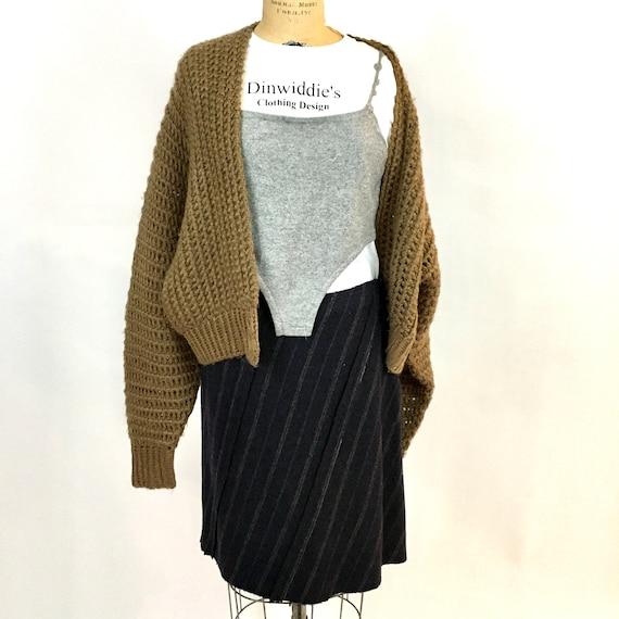 Vintage Handknit  Batwing  Sweater Cardigan