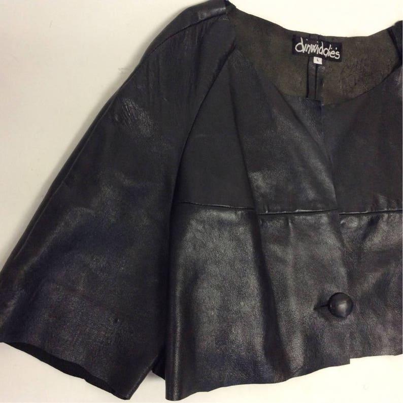 Roh eitern handgemachte weiche schwarz zerfetzt beunruhigt Lederjacke Sz L