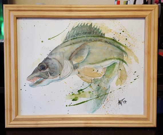 Walleye Watercolor Fine Art Print