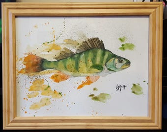 Watercolor Pencil Perch Painting or Print