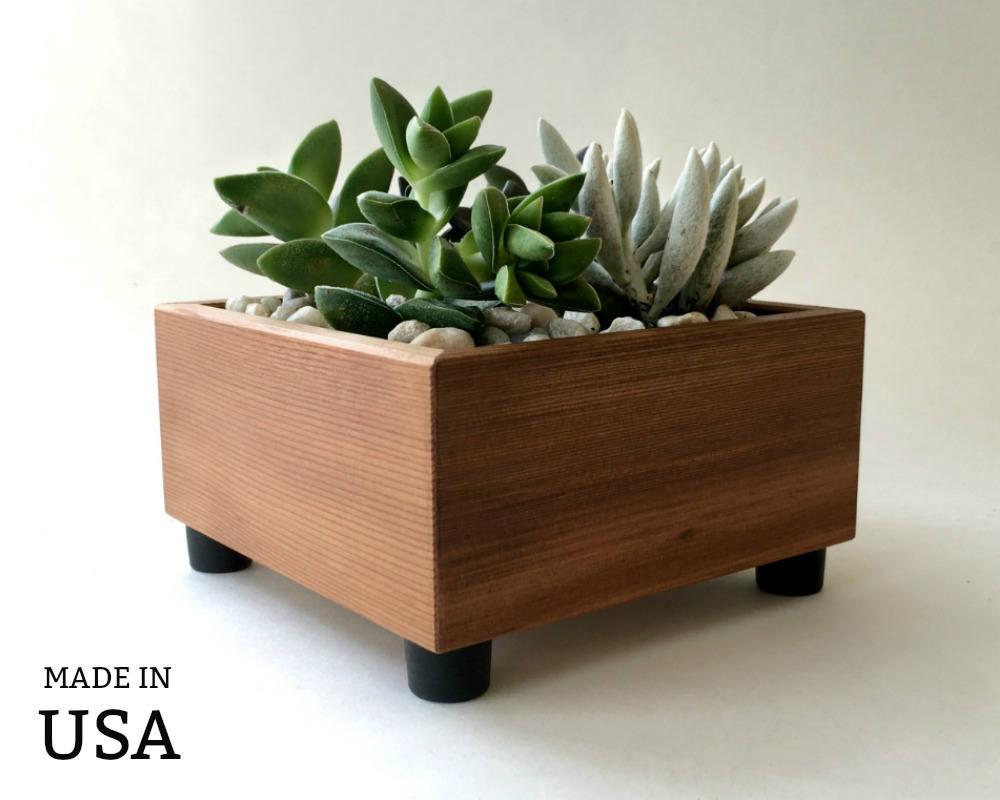 Succulent Planter Box Square Planter Succulent Garden | Etsy