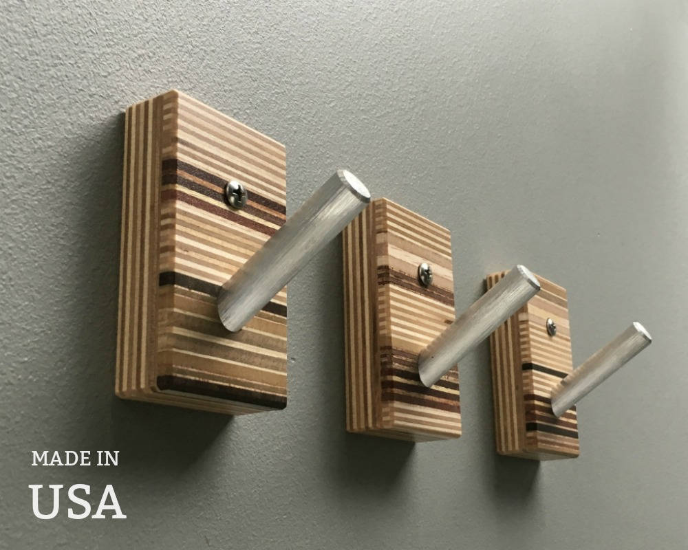 Modern wall hooks wood wall hooks modern wall art coat hooks modern coat hooks wood small modern hooks unique wall hooks made in usa
