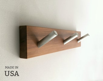 Modern Wood Coat Rack Made in USA, Custom Sizes by Special Order, Home Decor, Organization, Entryway Decor