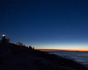 Pemaquid Point Lighthouse Before Sunrise Photo