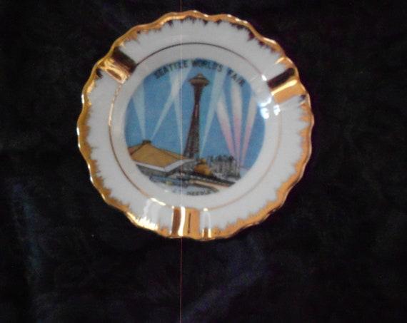 Seattle Worlds Fair Ceramic Ashtray