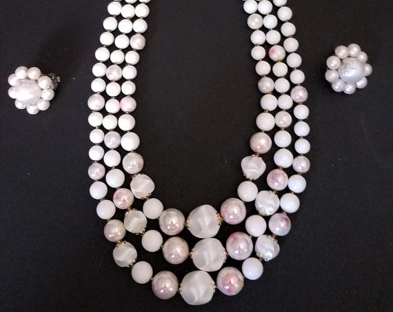 1940s Necklace and Earring Set