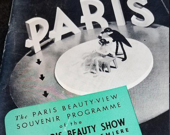 1940 Los Angeles Paris Beauty Show Programme