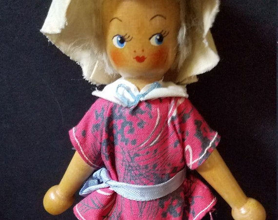 50s Dutch Wooden Doll