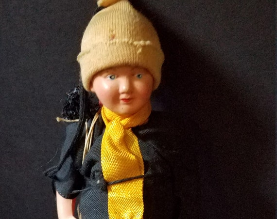 Celluliod 1950s Chimney Sweep Doll