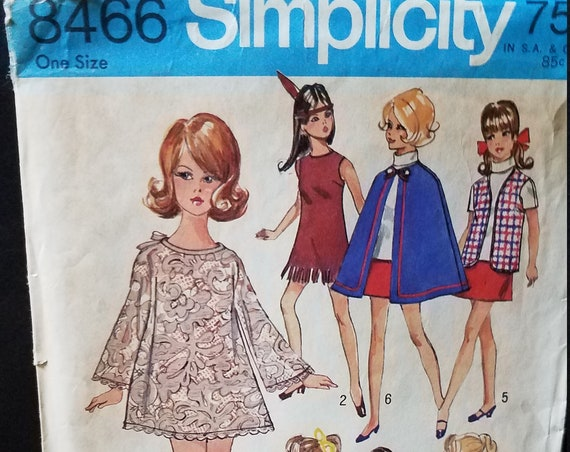 Barbie Clothes Pattern 1969 Simplicity