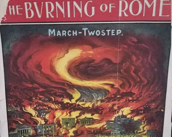 1903 Sheet Music The Burning of Rome