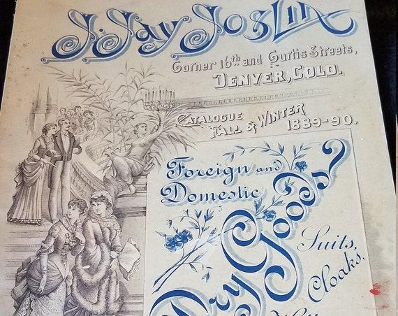1889 J Jay Joslin Dry Goods Catalogue Denver