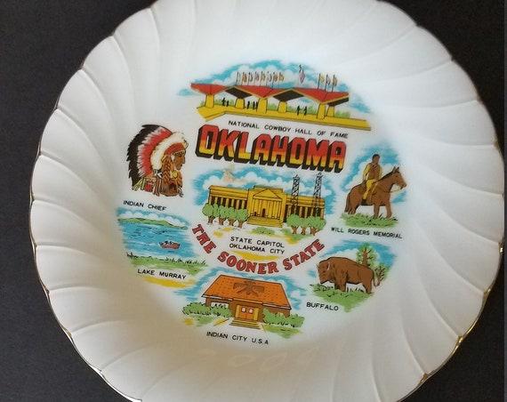 Oklahoma Souvenir Plate