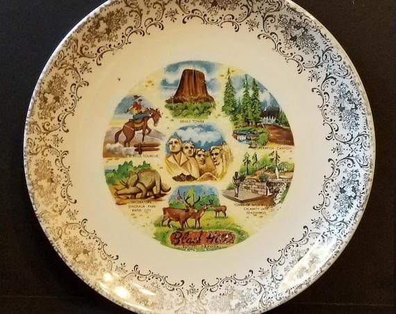 1940s South Dakota Souvenir Plate