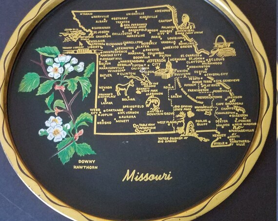 Missouri Souvenir Tin Tray
