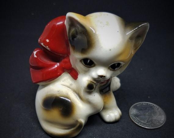 1950s Ceramic Kitten