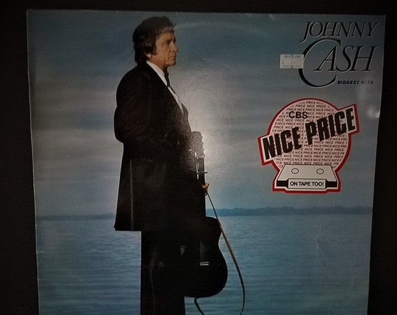 1982 Johnny Cash Biggest Hits CBS Records England