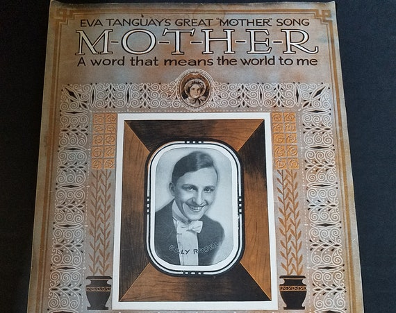 Eva Tanguays Great Mother Song 1915 Sheet Music