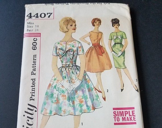 Simplicity 4407 1960s