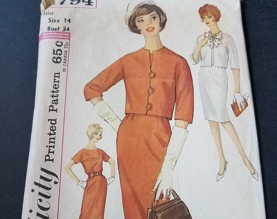 1960s Simplicity Pattern 4794