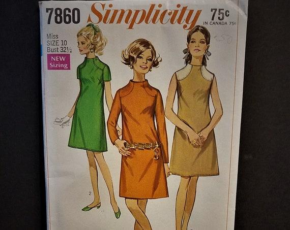1968 Simplicity #7860 Dress Pattern