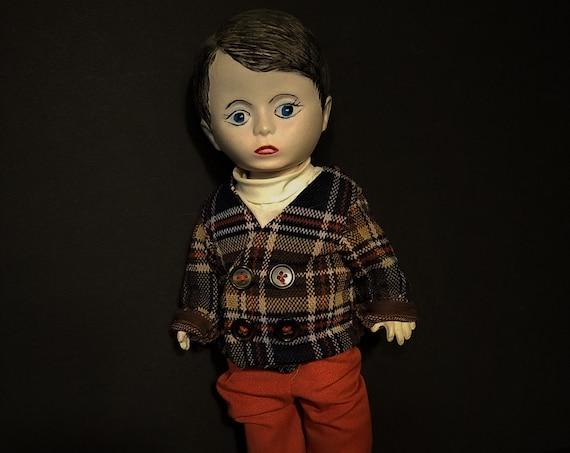 1970s Porcelain Boy Doll