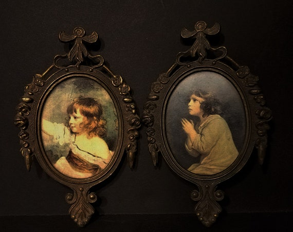 Italian Pictures with Italian Brass Frame