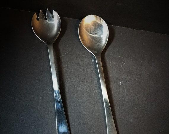 Italian Silverplate Salad Serving Forks