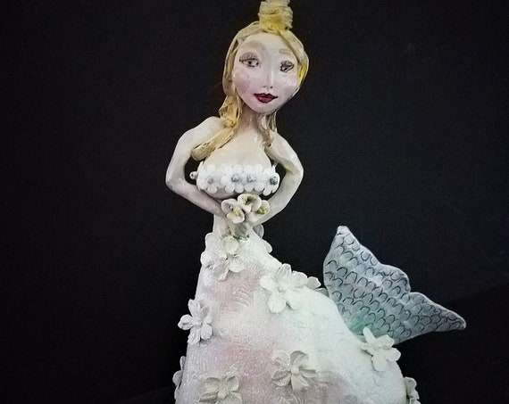 Mermaid in Wedding Dress Sculpture