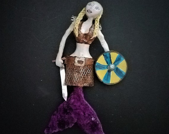 Hanging Viking Mermaid