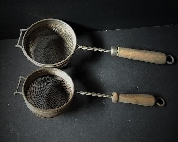Set of Antique Tea Strainers