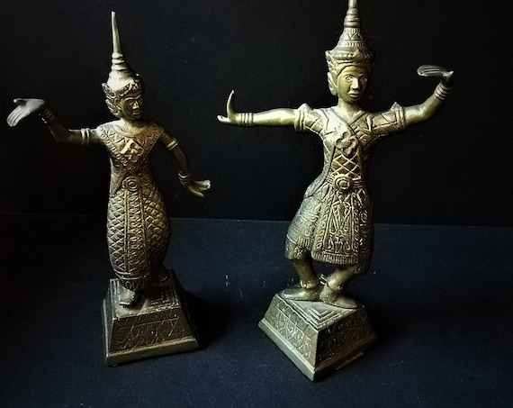 Brass Thai Dancing Figurines