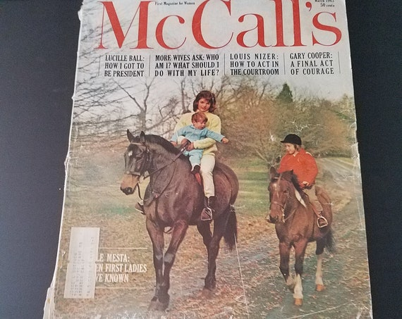March 63 McCalls Magazine Jackie O