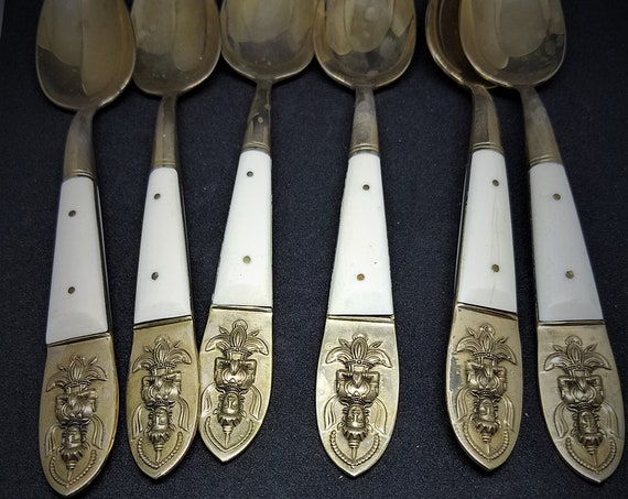 Set of 6 Siamese Full Size Spoons