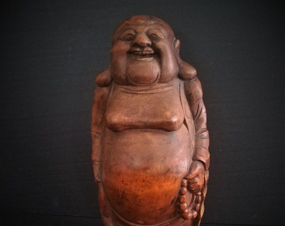 Vintage Bamboo Root Buddha