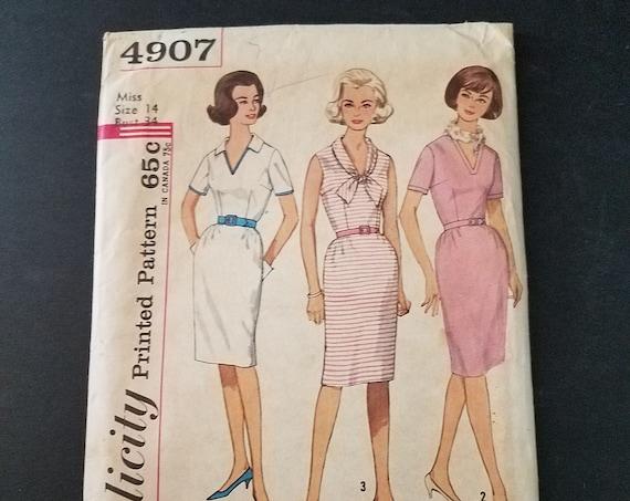 1960s Simplicity 4907 Dress Pattern