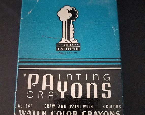 Vintage Old Faithful Painting Crayons