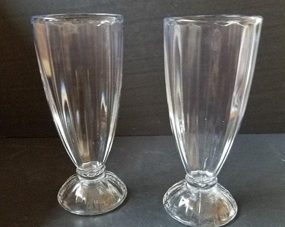 Vintage Soda Malt Glasses