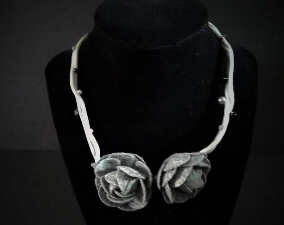 Gray Winter Chocker Necklace