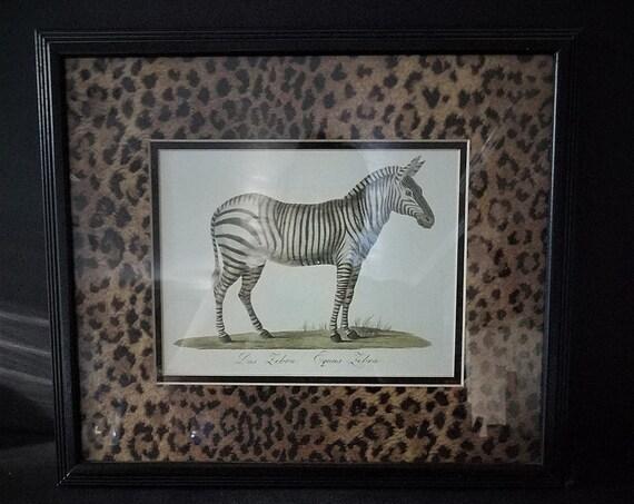 Framed Zebra Art Print