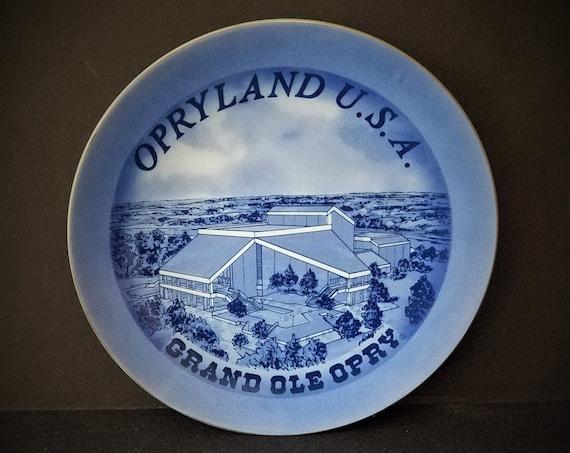 Opryland USA Blue Souvenir Plate