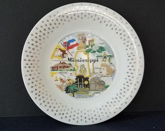 Mississippi Souvenir Plate