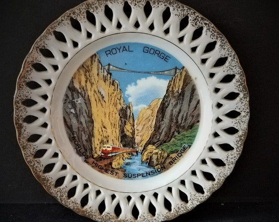 40s Royal Gorge Colorado Souvenir Plate