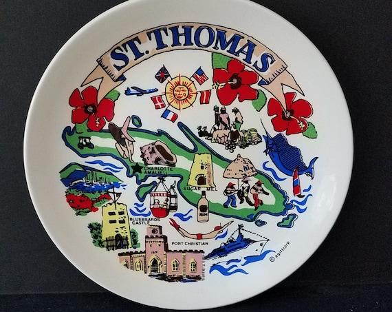 St Thomas 60s Souvenir Plate