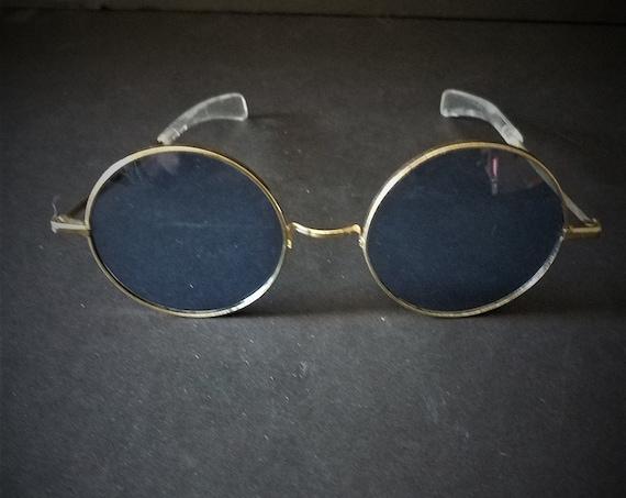 Vintage Lennon Style Blue Glasses