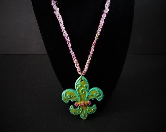 One of a kind Fleur de Lis Necklace