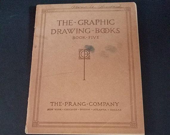1914 Prang Graphic Drawing Book Five